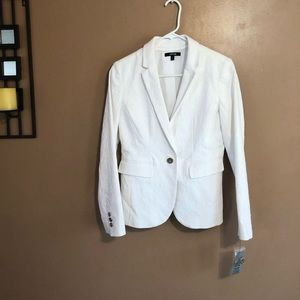 Apt. 9 White Textured Fabric Blazer, Size 4